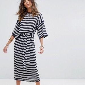 ASOS • Striped Maxi Skirt